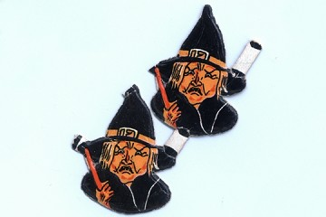 Vintage Die-Cut & Embossed Witch Heads - Package of 2
