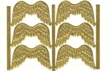Package of 6 Tiny GoldenAngel Wings Dresdens