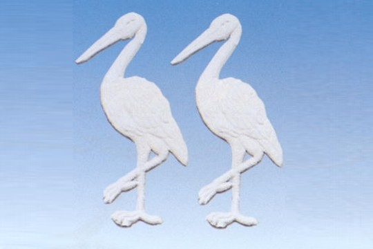 Dresden Stork - White - 2 Pieces per Package