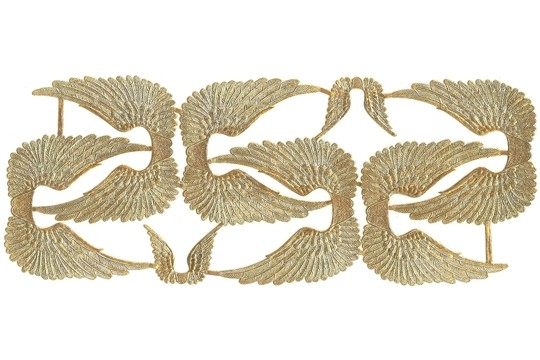 Double Sided Golden Dresden Swan Wings - Package of 6 Large and 2 Small