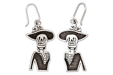 Sterling Silver Catrina (Top) Earrings