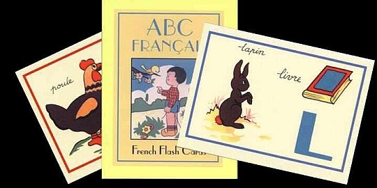 Brand New Retro 1940s Style French Flash Cards
