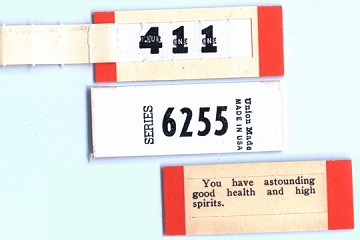 Vintage Fortune Tickets - Packet of 3