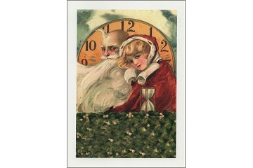 Father Time & Winter Child Holiday Greeting Card