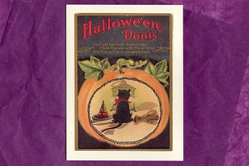 Hallowe'en Don'ts Hand Glittered Note Card from Barbara Shriber