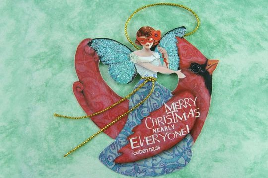 Merry Christmas Nearly Everyone! (Gift Tag: Bohemian Holiday - Cardinal)