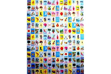 1 sheet (18 x 26 inch) of Loteria Giftwrap Paper