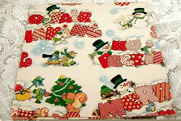 Vintage Snowman Wrapping Paper - No Peeking