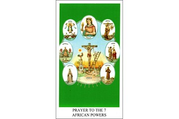 7 AFRICAN POWERS (Siete Potentias) Holy Card - Package of 5