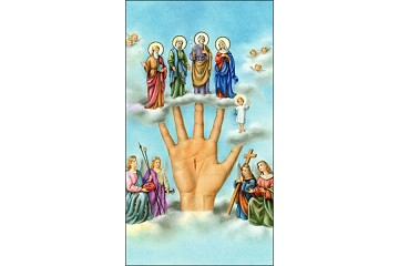 Rare SPANISH Mano Poderosa (Most Powerful Hand) Holy Cards - Package of 5