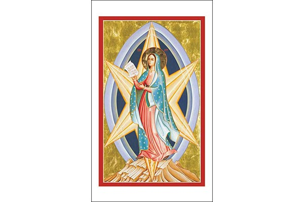 Our Lady (Mary) - Star of the New Evangelization Icon Style Holy Card