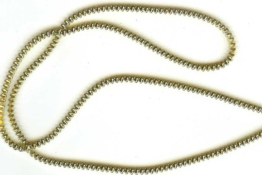Strand of Old-Time Victorian Style German Spiral Krausbouillion Crinkle Wire - Medium GOLD 1.7 mm diameter