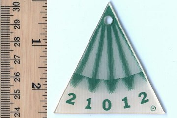 Vintage Lenticular Golf Gizmo - Triangle with Green Arrows