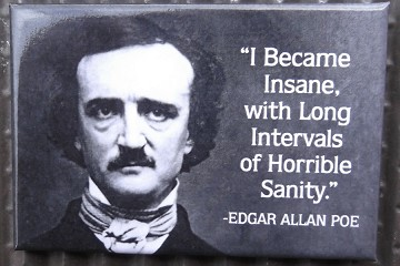 Magnet featuring a Quote from Edgar Allan Poe