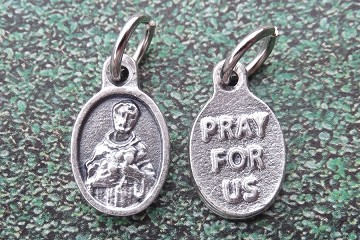 Mini Silvery St Francis of Assisi Medal