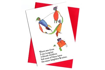 Laughter & Noise - Life with Children Note Card