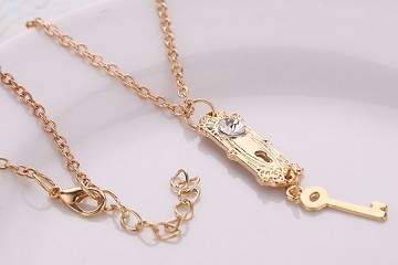 Alice in Wonderland Lock and Key Necklace