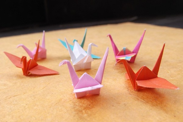 Mini Origami Crane in Assorted Colors and Patterns