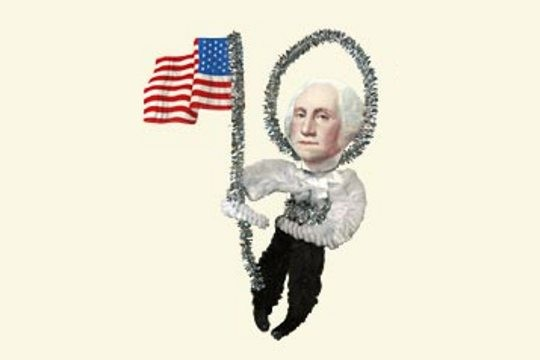 Old Fashioned Chenille Ornament: George Washington Chenille Ornament