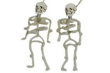 Old Fashioned Chenille Ornament - Skeleton