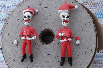 Second Quality Day of the Dead Santa Claus Ornament