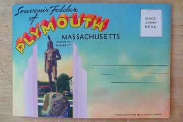 Vintage Souvenir Folder of Plymouth, Massachusetts Post Card