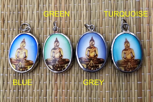 Sothorn Sitting Budda Vitreous Enamel Pendant - Your Choice of Backround Essence