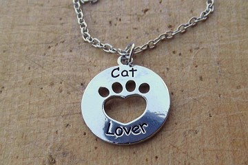 Cat Lover Charm on Matching Chain