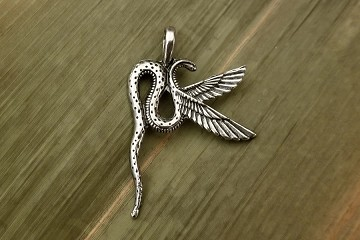 Elegant Wadjet Winged Serpent Goddess Pendant
