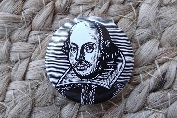 William Shakespeare Pinback Button