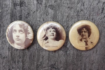 Vintage Pinback Button from 1896 - Beautiful Woman