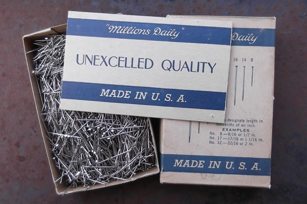 Vintage Box of Brass Pins - No. 16
