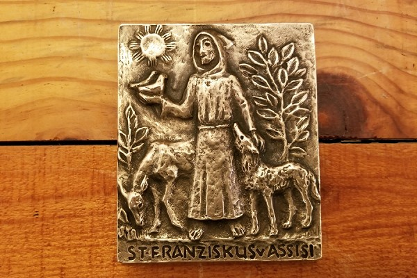 St Francis of Assisi Solid Bronze Wall Plaque