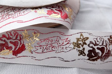 Vintage Satin and Metallic Ribbon - Be My Valentine (by the Repeat)