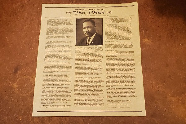 Dr Martin Luther King, Jr: I Have a Dream Reproduction on Parchment