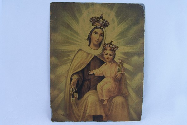 Reproduction Retablo of Our Lady of Mount Carmel with Jesus
