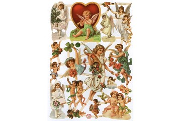 Holdiay Angels Reproduction Chromolithograph Embossed Die-Cut Reliefs