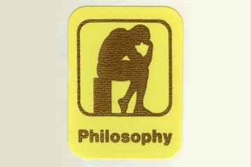 Vintage Philosophy Stickers featuring The Thinker - Package of 4