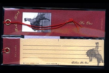 Set of 2 Vintage-Style Gift Tags: Rodeo King