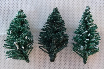 Vintage Miniature Dark Green Christmas Tree - Flocked or Unflocked