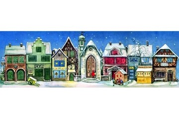 Hand-Crafted Reproduction Advent Calendar - The Little Town 1946