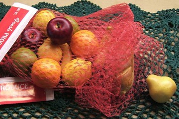 Plastic Net Fresh Produce bags - Package of 5