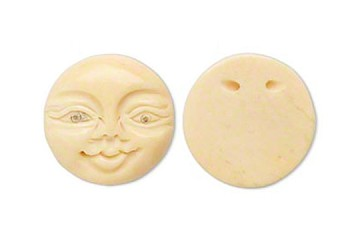 Moon Face Bead (Bone)
