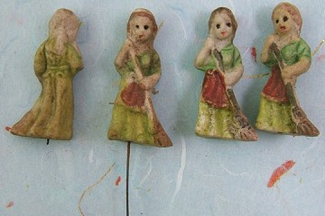 Tiny Vintage Hand-Painted Bisque Cinderella
