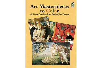 Art Masterpieces to Color Coloring Book with Free Mini Box of Crayons