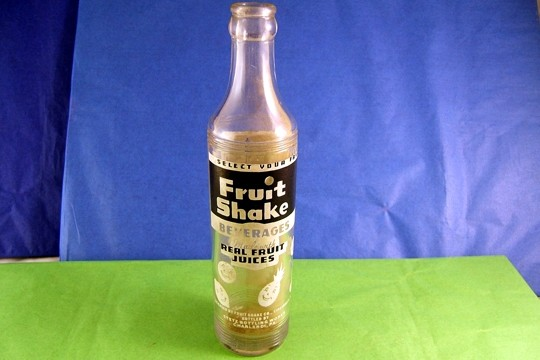 Vintage Glass Fruit Shake Bottle - 100% of the Amount You Pay is Donated to the Donora Volunteer Fire Department