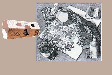 3D Note Card - MC Escher - Reptiles