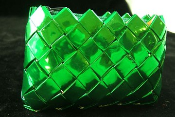 Bright Green Candy/Food Wrapper Coin Purse
