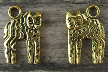 Gold Plated Pewter NEW Cat Charm