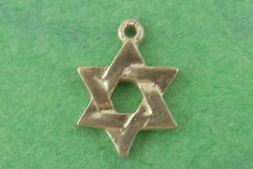 Silvery Star of David Charm